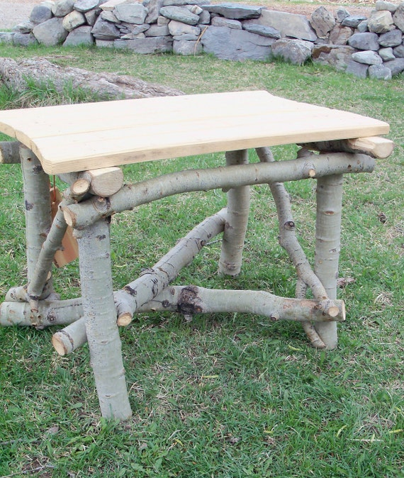 Happy Ending, Rustic Stickwork End Table