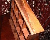 Wooden Display shelf for miniature Collectables - Wall Display case