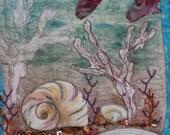Seashells in the Ocean Art Quilt