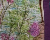 "Monet's Garden Art Quilt Cushion 12"" by 14"""