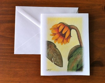 from Yellow Sunflowers - Greeting Card - Scene 2 (Blank Inside)