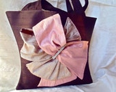 Chocolate Brown Raw Silk Evening Purse