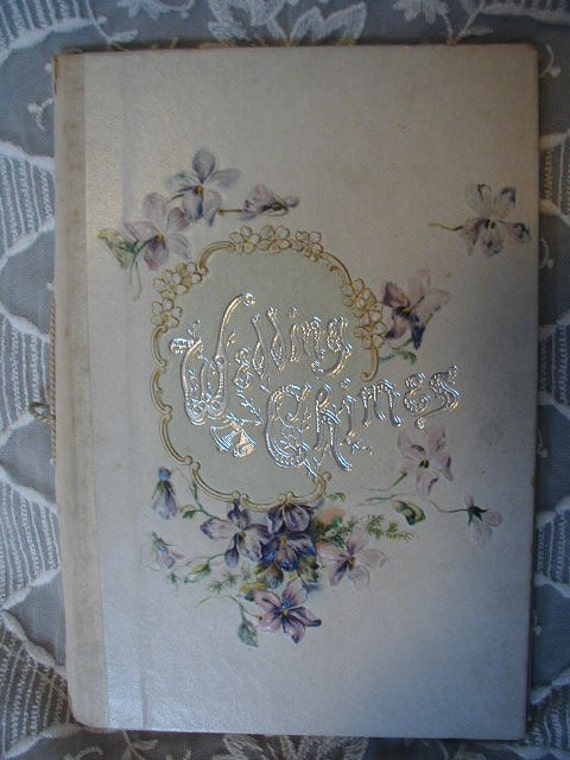 Antique Wedding Book from 1913 called WEDDING CHIMES