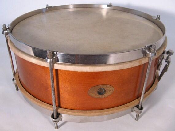 reserved vintage slingerland wood shell snare drum by hrstufnstuf. Black Bedroom Furniture Sets. Home Design Ideas