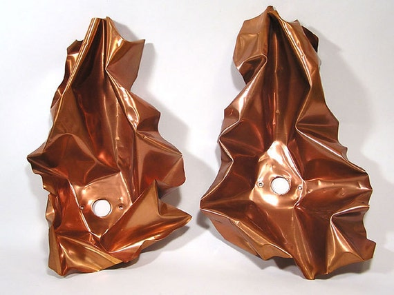 Vintage 1964 ELLAMARIE & JACKSON WOOLLEY Light Reflectors or Wall Sconces from the San Diego Civic Theater