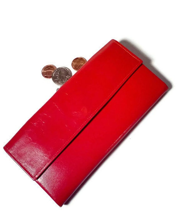 Vintage Wallet Princess Gardner Red Wallet 1960's Lipstick Red Mad Men Kiss Clasp coin purse
