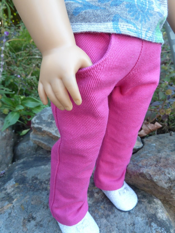 American Girl doll hot pink denim jeans