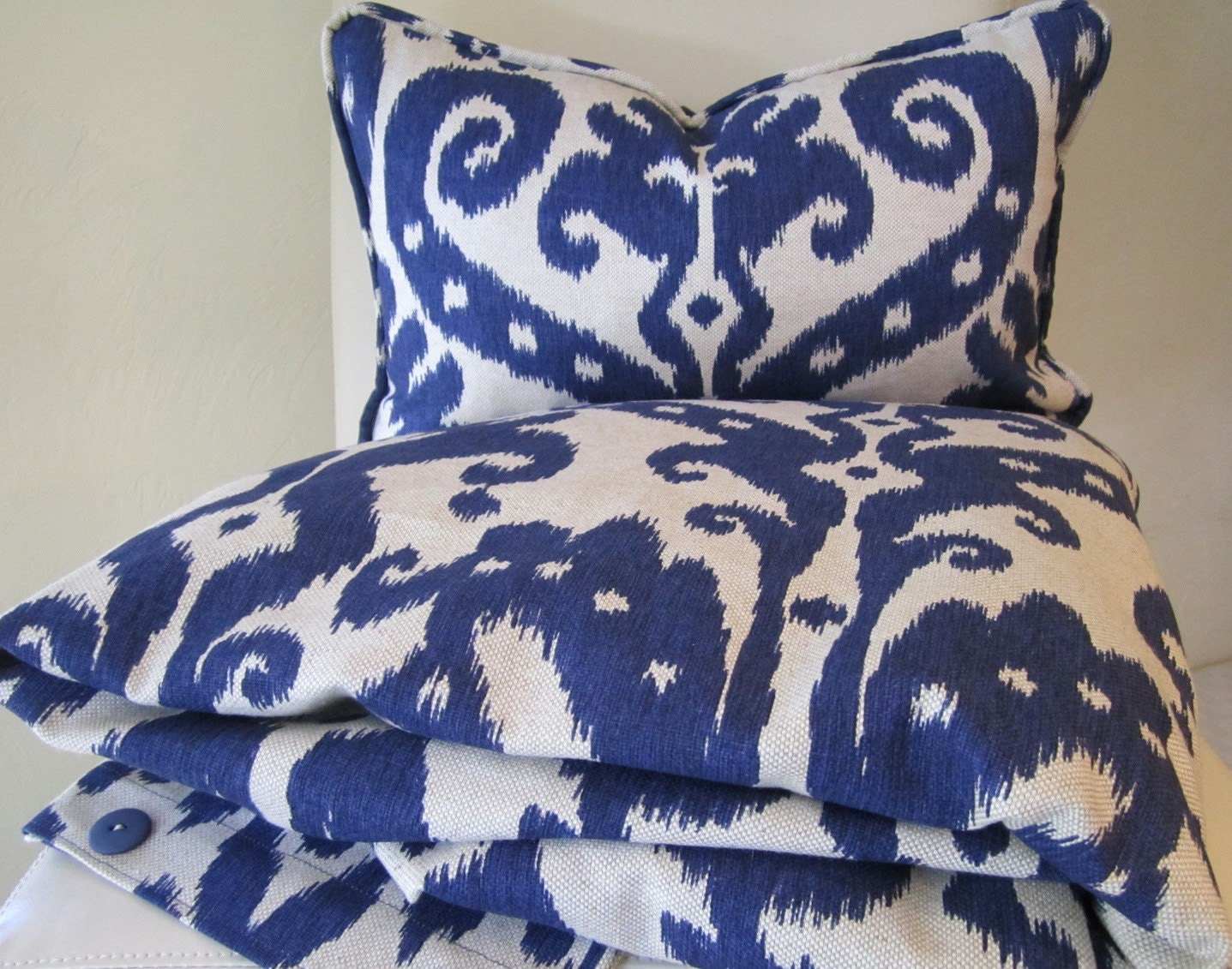 Ikat duvet cover decorative throw pillow ikat marrakesh for Decorative bed covers