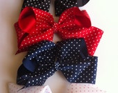 1 Polka Dot Ribbon- Hair Bows For Baby Girls-Toddlers- Boutique Bows