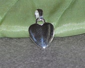 925 sterling silver heart charm 12.5 mm - 1 piece