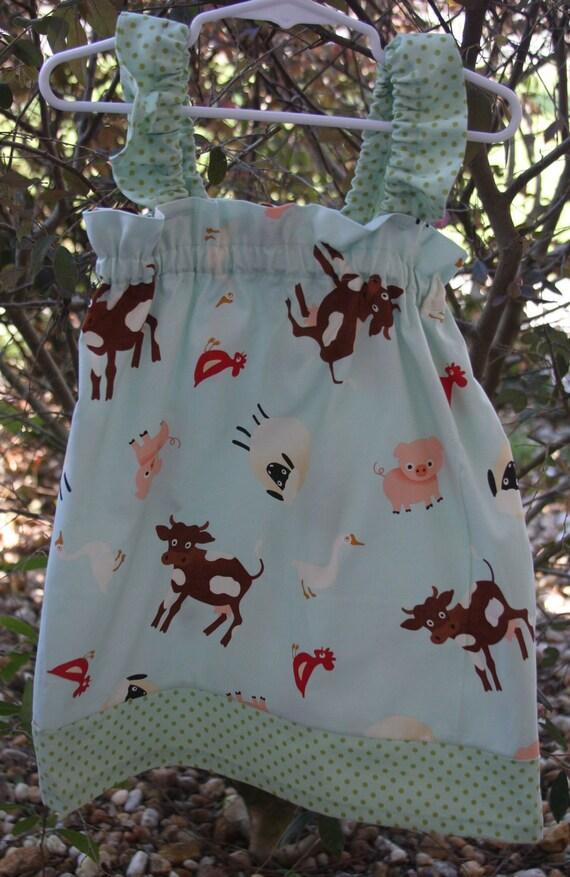 Girl's Sundress in Little Farm Girl