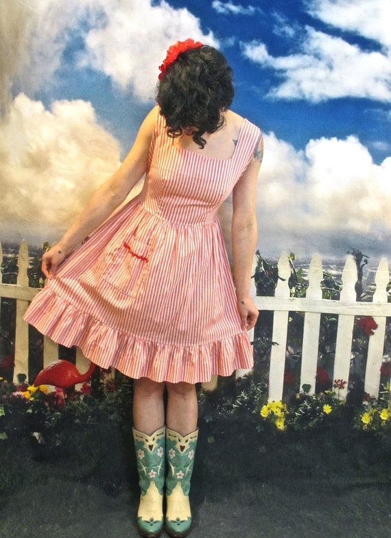 50s Candy Striper Dress
