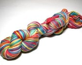 "RESERVED FOR HELEN Hand-painted Self-Striping Sock Yarn ""Primarily Warm"" Superwash Merino"