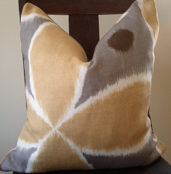 18x18 pillow in 'Ada' by Thomas Paul for Duralee Fabrics