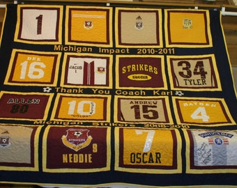 Coaches T-Shirt Memory Quilt