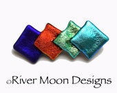 Shimmering Dichroic Fused Glass Brooch