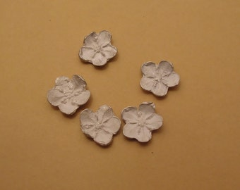 forget me not raw cast sterling silver flowers UF001-5