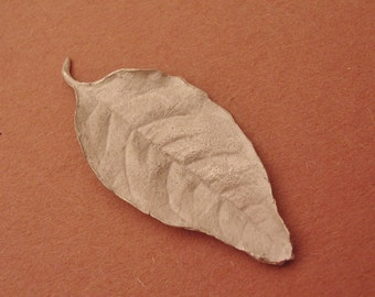 Large leaf casting, sterling silver, jewelry making leaf component  UL018-1