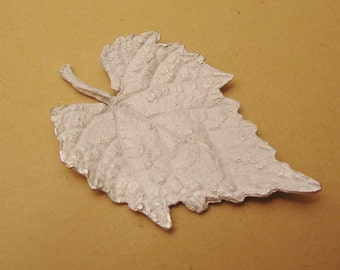 leaf casting, silver cast, grape leaf, finding, sterling silver, raw casting UL031
