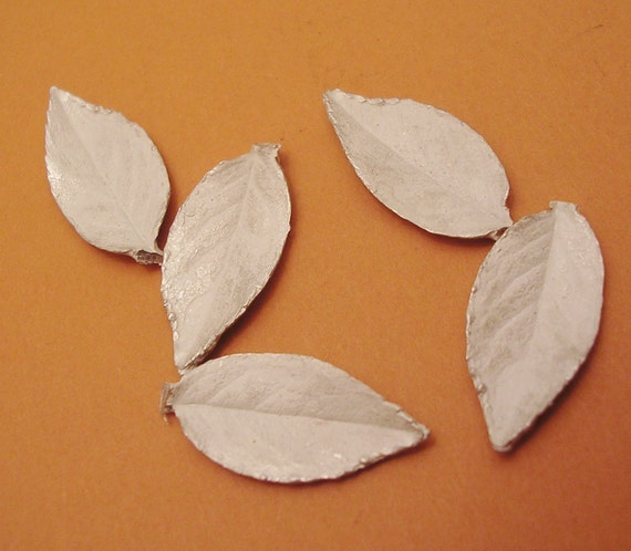 rose leaf castings sterling silver leaves silversmithing supplies UL034-5