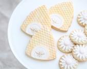 Honey Bee with Spring Flowers Cookies