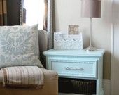 RESERVED FOR ELYSE Sweet & Chunky Baby Blue Nightstand/Side Table