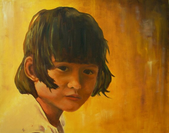 Original Oil Painting - 16 x 20 inches- Coco