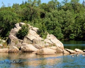 AT THE RIVER Landscape Photo, American River Photography