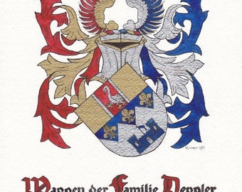 Custom Heraldry and Surname Coat of Arms Design Services