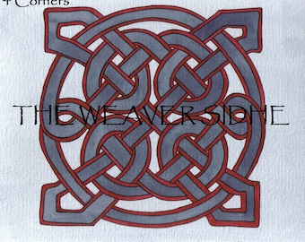 Colorful Celtic Knot Paintings