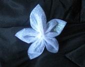 5-Petal Glitter Tulle Flowers