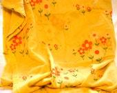 Pretty 1970s Floral Fabric