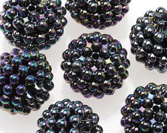 Basketball Wives Jewelry Resin Ball Bead Black16mm Pkg/10