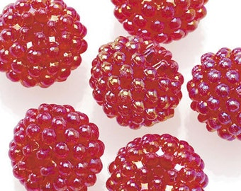 Basketball Wives Jewelry Resin Ball Bead Red 16mm Pkg/10