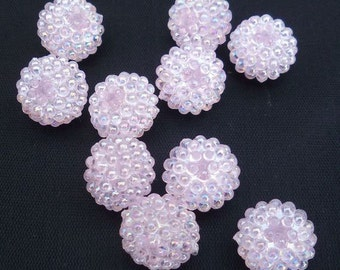 Basketball Wives Jewelry Resin Ball Bead Lt. PInk 16mm Pkg/10