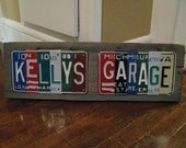 License Plate Sign -Made To Order- Personalized Sign- garage sign - Father's Day - License Plate Decor- Garage sign Decor