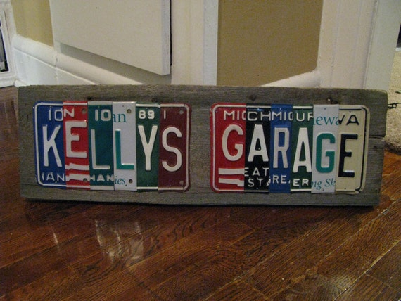 Made to Order License Plate Signs- Personalized Dad- Fathers- Custom - You Design -  Vintage License Plates