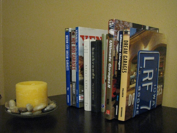 IOWA LICENSE PLATE Bookends- Perfect for an Office - Mancave - Den.....many states available