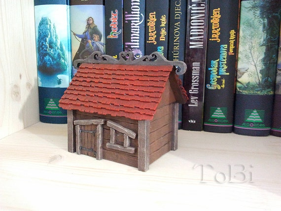 20% off SALE - Box for jewelry- miniature - house