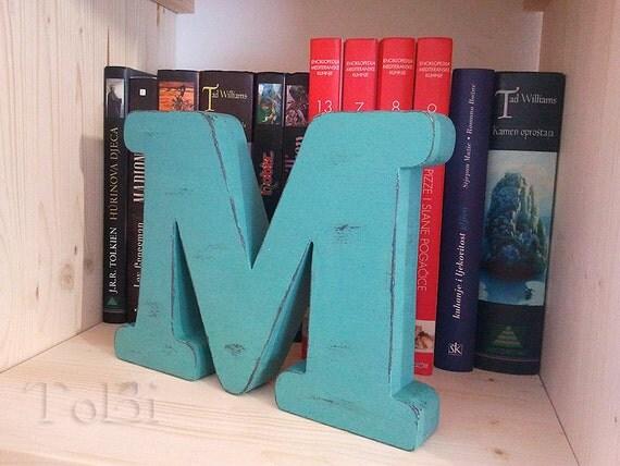 """wood letter """"M"""", decor"""