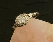 Antique Edwardian Filigree Diamond Ring