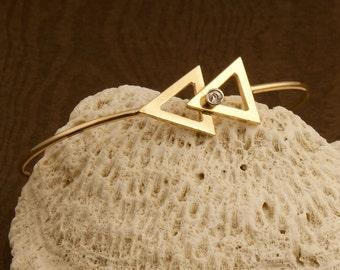 Vintage 14 Karat Gold And Diamond Bracelet