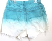 Colorful-Made to Order- Custom Made Dip Dyed Cutoff Shorts