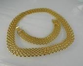 Vintage Premier Designs necklace and bracelet goldtone
