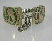 Watch Band Turquoise and Sterling Silver Native American Signed Begay
