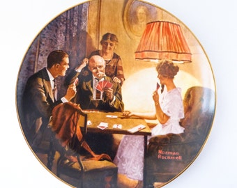 Norman Rockwell Plate - This is the Room that Light Made - Decorative Lunch Plate - Knowles 1983