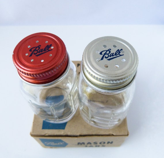 Ball Perfect Mason Jars Salt And Pepper Shakers By