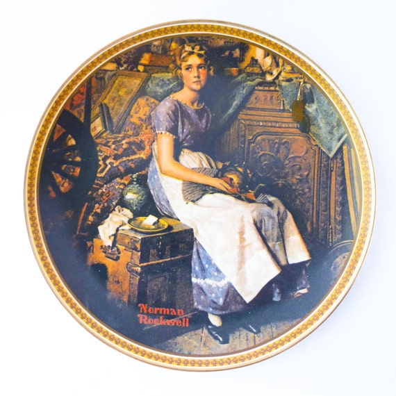 Norman Rockwell Plate Dreaming In The Attic Decorative