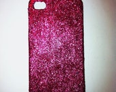 Pink Glitter iPhone 4 4s Hard Cover Case