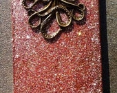 Bronze Octopus Glitter iPhone 4 4s Hard Cover Case